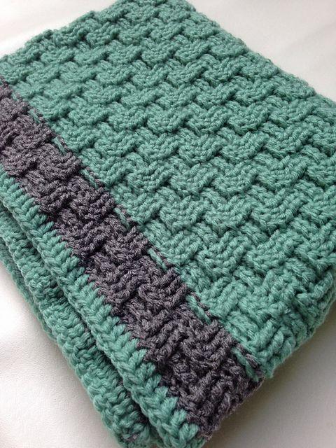 Basket Weave Knitting Pattern Baby Blanket : Best ideas about basket weave crochet on