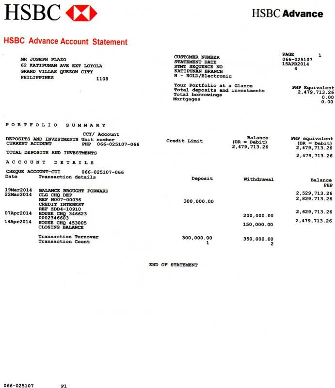 Bank Statement Example Bank Statement Statement Template Statement