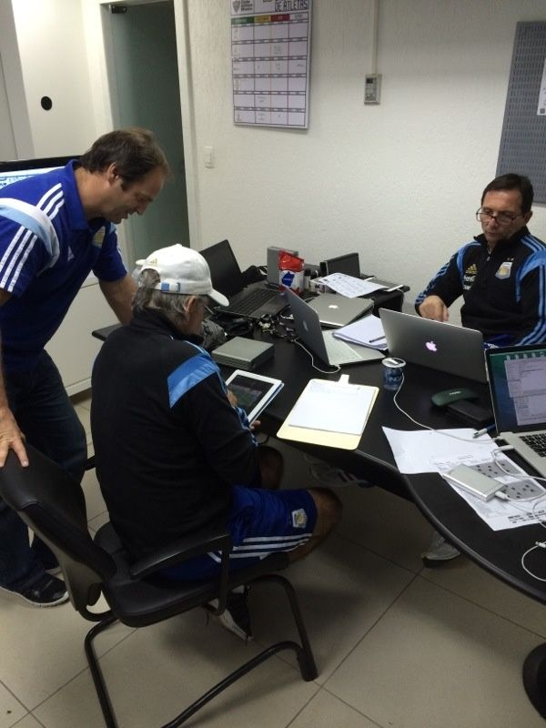 @Argentina coaching team working hard with @SportstecBrasil