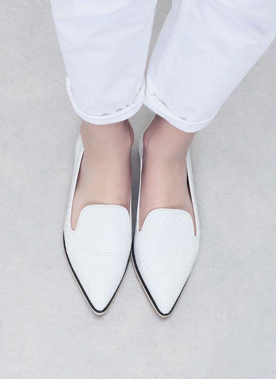 Flach und doch elegant: Das ist der Lieblings-Schuh der Garconne.