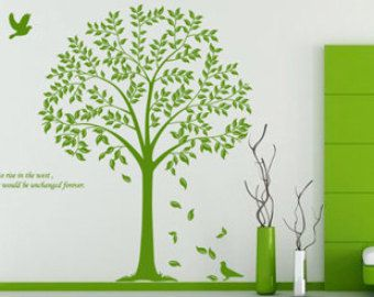 Olive tree wall decalmagpie wall decaltree by Clarkwallartdecal