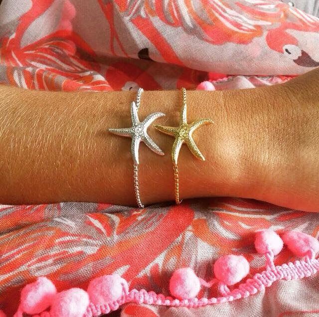 Corrente Estrela do Mar em prata e prata com banho de ouro +info: joias.she@gmail.com