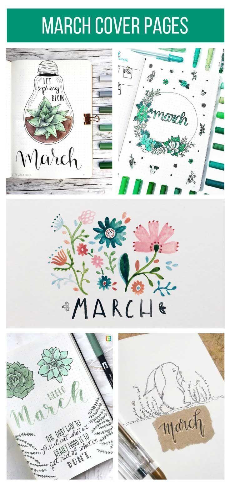 Titelseiten des Bullet Journal March, die Sie stehlen möchten! – #Bullet #Cover #Journal #März #Seiten