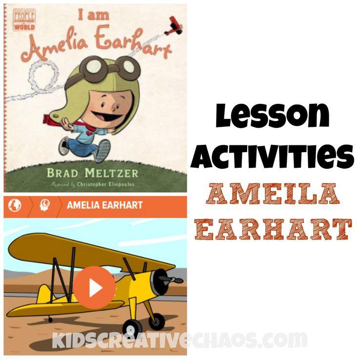 Amelia Earhart Lesson Activities: Book Review #homeschooling #PenguinKids…