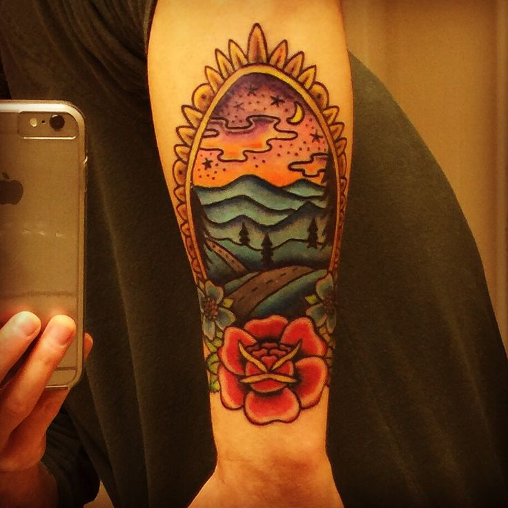 16 best images about tattoos on pinterest traditional for Blue ridge mountain tattoo
