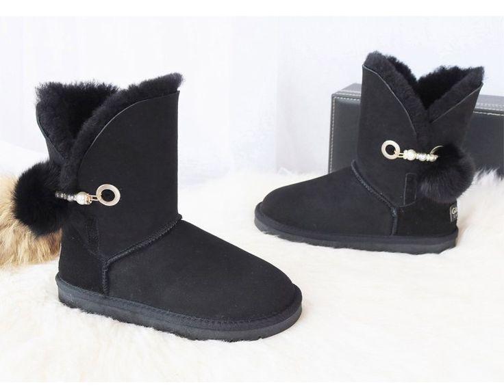 <b>G&Zaco Luxury</b> Winter <b>Sheepskin</b> Snow Boots Suede Genuine ...