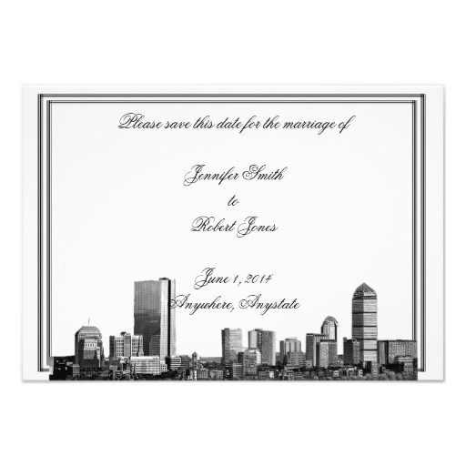 boston skyline wedding theme on pinterest response cards wedding