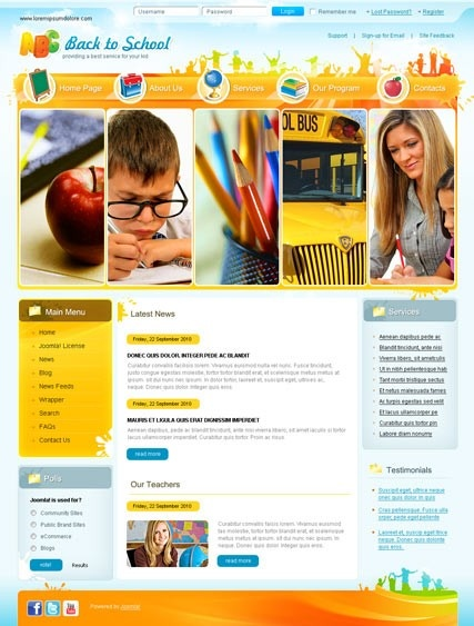 Back to school Joomla templates