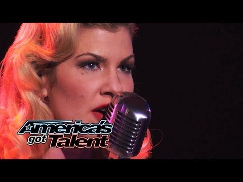 """▶ Emily West: Sultry Songstress Performs """"Chandelier"""" Cover - America's Got Talent 2014 - YouTube"""
