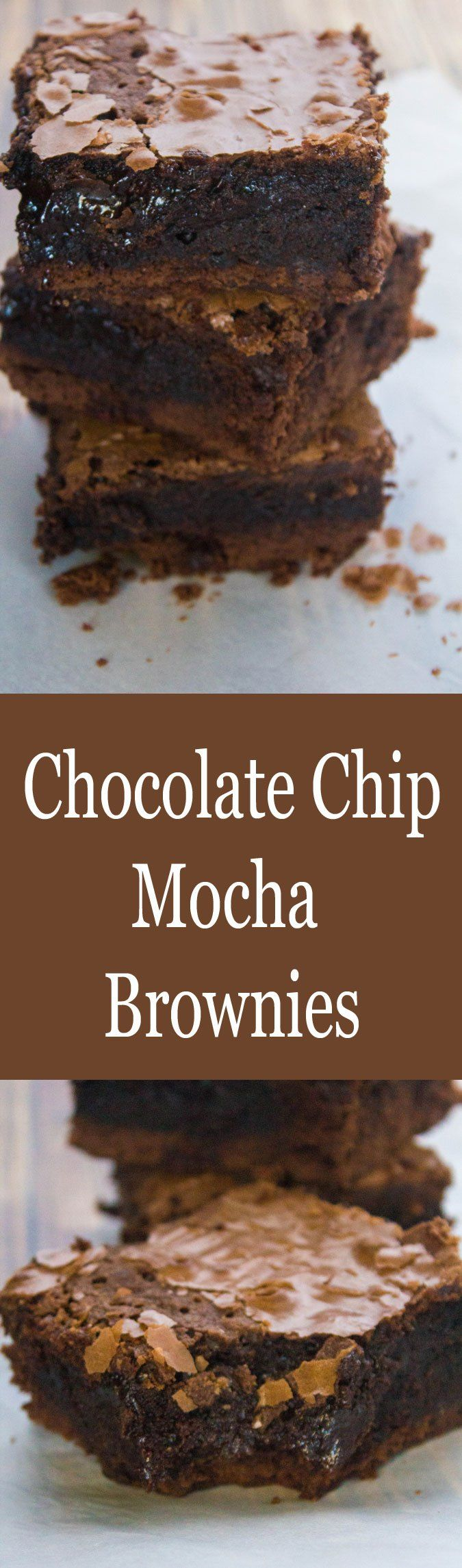 Chocolate Chip Mocha Brownies for #SundaySupper