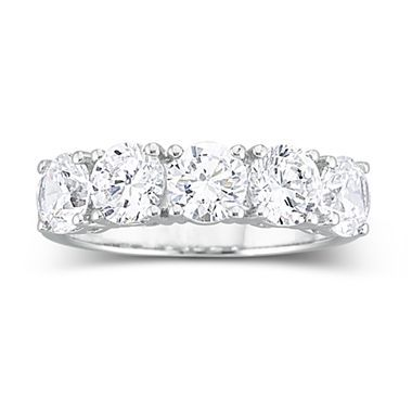 Beautiful T W Cubic Zirconia Wedding Ring jcpenney
