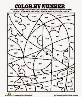 Division Coloring Sheets | Math coloring, Division ...