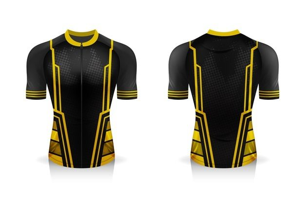 Download Especificacao Do Modelo Cycling Jersey Mock Up Sport T Shirt Uniforme De Gola Redonda In 2021 Sports Shirts Sport T Shirt Cycling Jersey