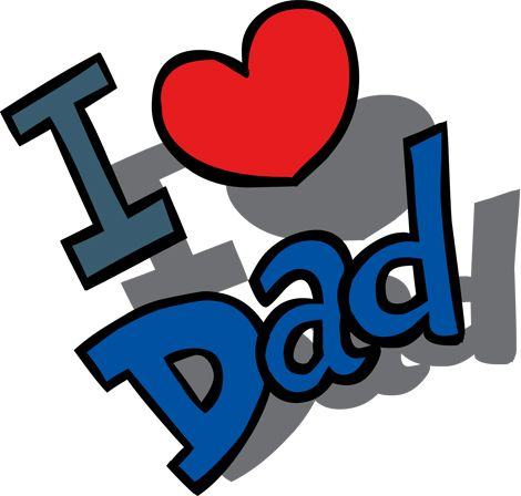 Clipart Image of an I Love Dad Message for Father's Day
