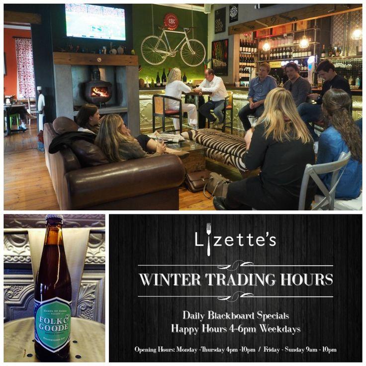 New Folk & Goode Craft Beer at Lizettes Kitchen   http://ilovehermanus.co.za/listing/lizettes-kitchen/