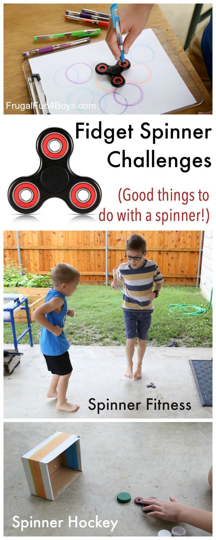 Fidget Spinner Challenge: GOOD Things for Kids to Do with a Fidget Spinner!