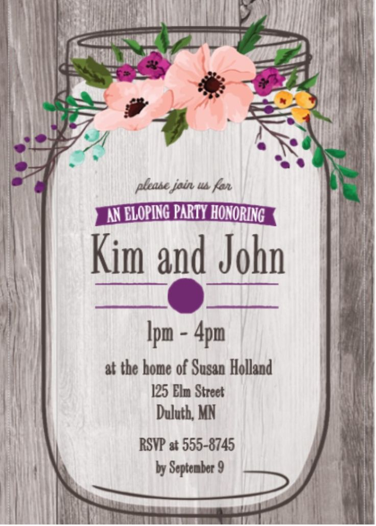 73 best eloping party invitations (invite friends to an informal ...