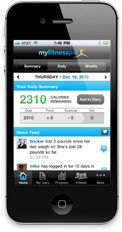 MyFitnessPal.com is my favorite way to count calories, log exercise, and link with friends for fitness encouragement. It's pushed me to work harder and lose more weight.