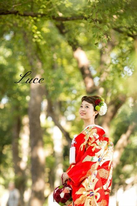 和装ヘアスタイル~人気の赤色打掛~ |ウェディングヘアメイクルーチェのハッピースタイル♪