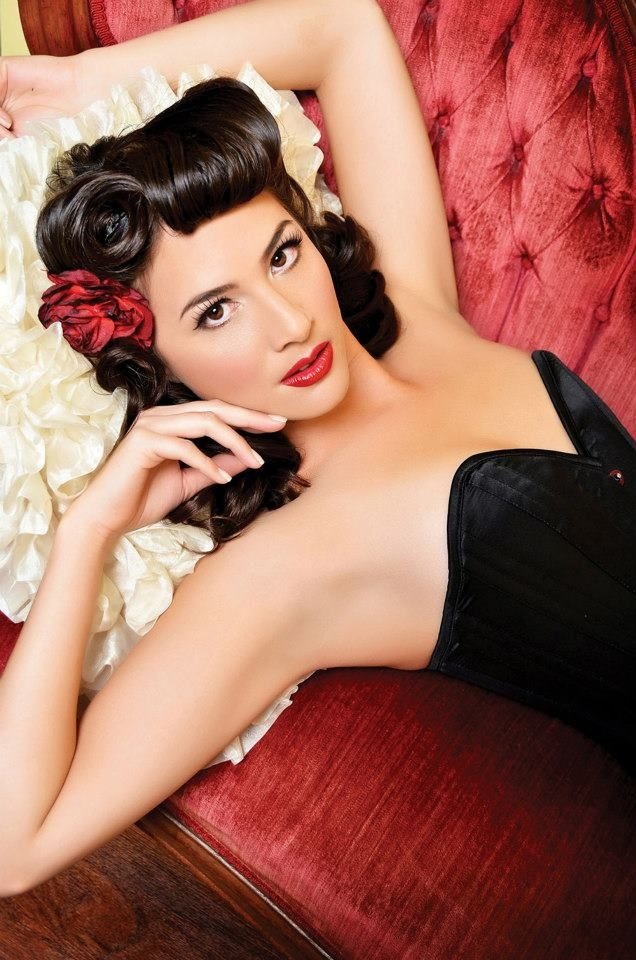 Pin curl love| Pinup Girl  http://thepinuppodcast.com features pinup models and pin up photographers.