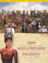 Mpule Kwelagobe Miss Universe 1999 (Botswana) on the cover of 2000 Miss Universe Pageant Program Book