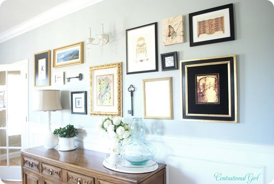 how to style a gallery wall: Wall Art, Inspiration Wall, Decor Ideas, Black Frames, Galleries Wall, Collage Wall, Wall Pictures, Art Wall, Wall Arrangements