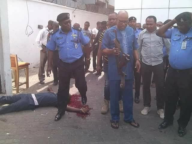 Image result for Owerri armed robbery : IGP Idris honours two slain officers in Lagos