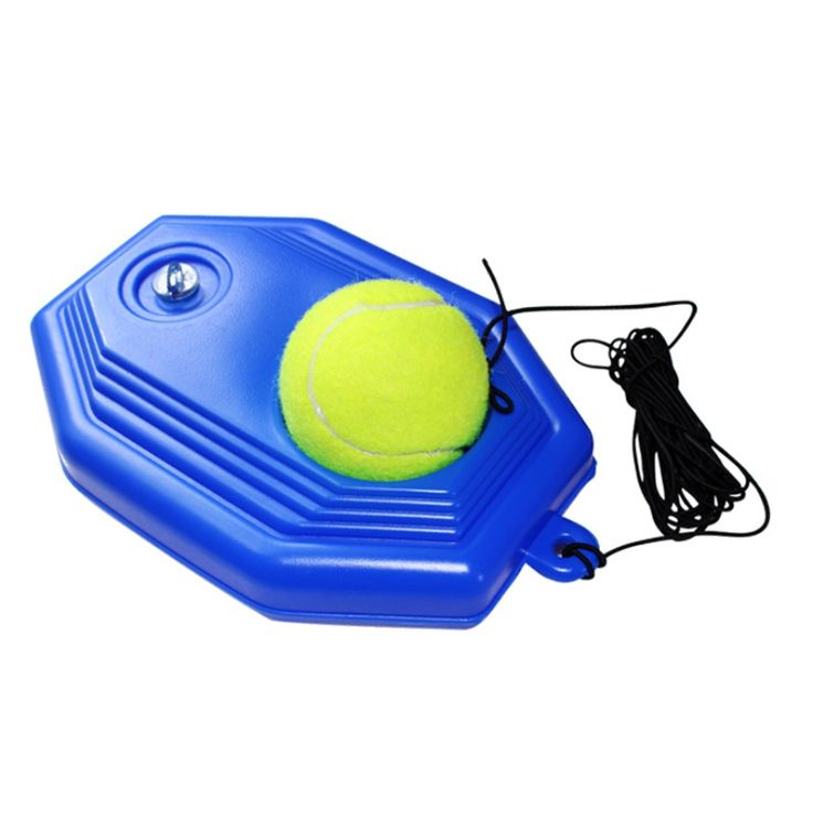 Hot Heavy Duty Tennis Training Tool+ Exercise Tennis Ball Self-study Rebound Ball with Tennis Trainer Baseboard Sparring Device #Affiliate