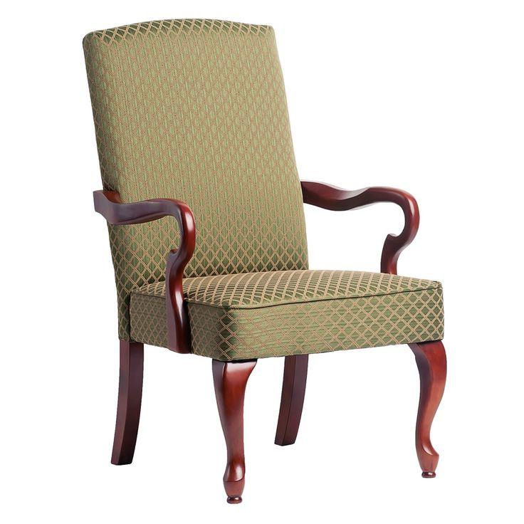 Dayton Cherry Finish Gooseneck Accent Chair