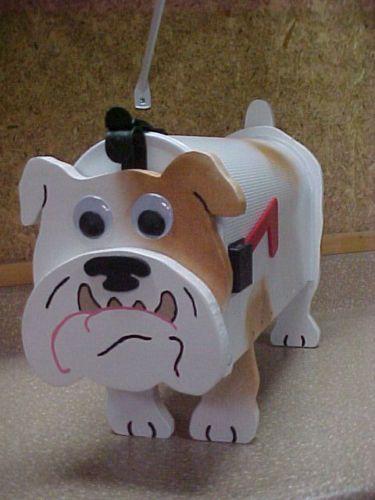 Bulldog Mailbox Custom Animal Mailboxes Bulldogs Postal Dog Mail Box Dogs | eBay