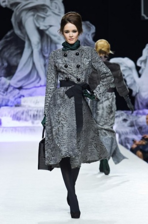 Fur coat by Igor Gulyaev (grey swakara)  collection Stilosa FW 2013-14