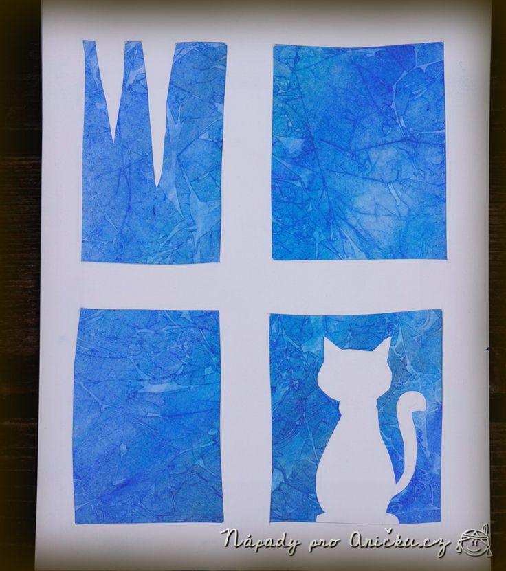 Zimní tvoření: Jak maluje mráz - Frozen window - winter craft