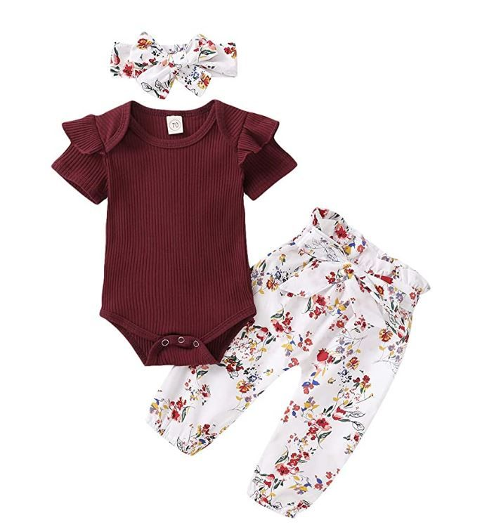 Baby Girl Clothes Set//Long Sleeve Newborn Clothing//Bodysuit Cute For Girls