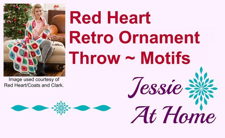 Pt 1 Retro-Ornament Throw Motifs by JessieAtHoome Retro Ornament Throw ~ Motifs
