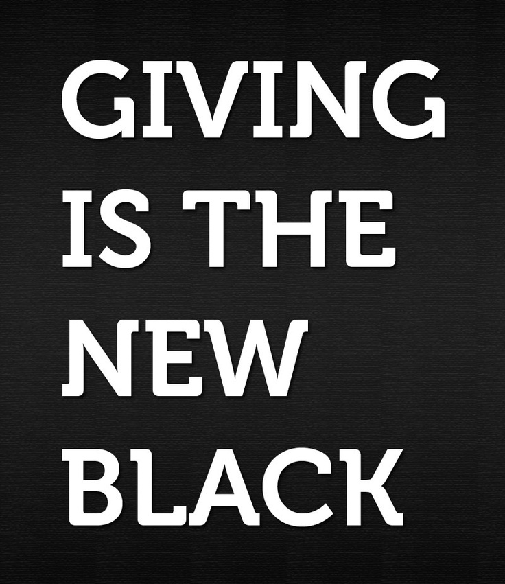 Giving is the new black.: Books Jackets,  Dust Jackets, Food Crisis, Quote, Holidays Gifts, Help Fight,  Dust Covers, Black,  Dust Wrappers