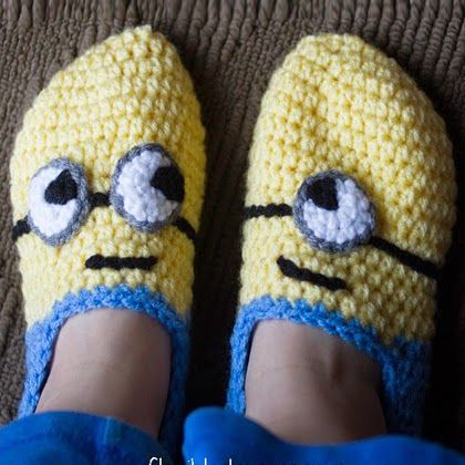 Free Crochet Patterns For Minion Slippers : 17 Best images about slippers on Pinterest Loafers ...