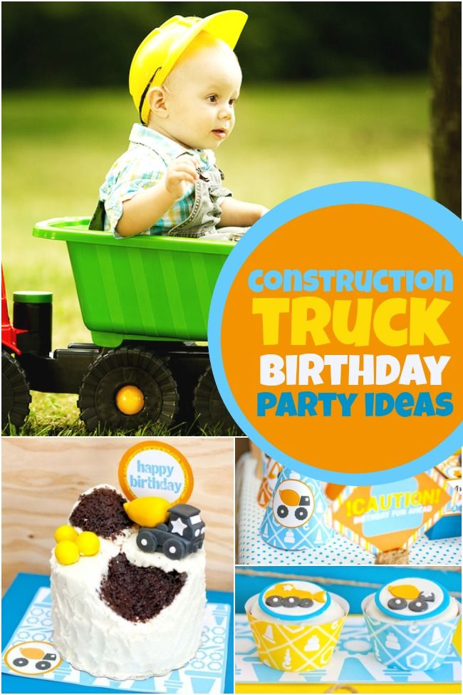 Throwing a party for your little builder? These Construction Truck Birthday Party ideas are awesome!