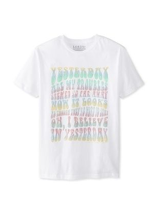 47% OFF Lords of Liverpool Men's Yesterday 70's Crew Neck Tee (White)