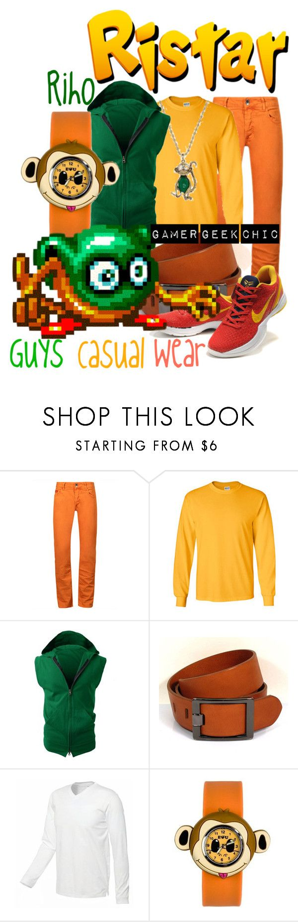 """Ristar - Riho"" by gamer-geek-chic ❤ liked on Polyvore featuring Gildan, NIKE and Anisnap"