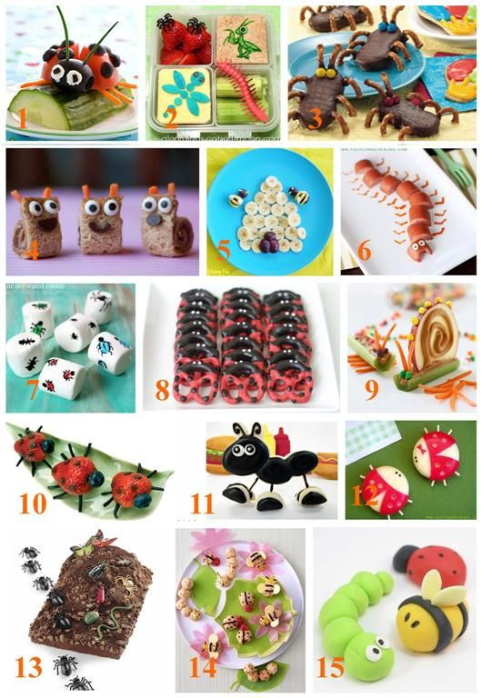 15 Adorable Bug Snacks and treats roundup_bugfood