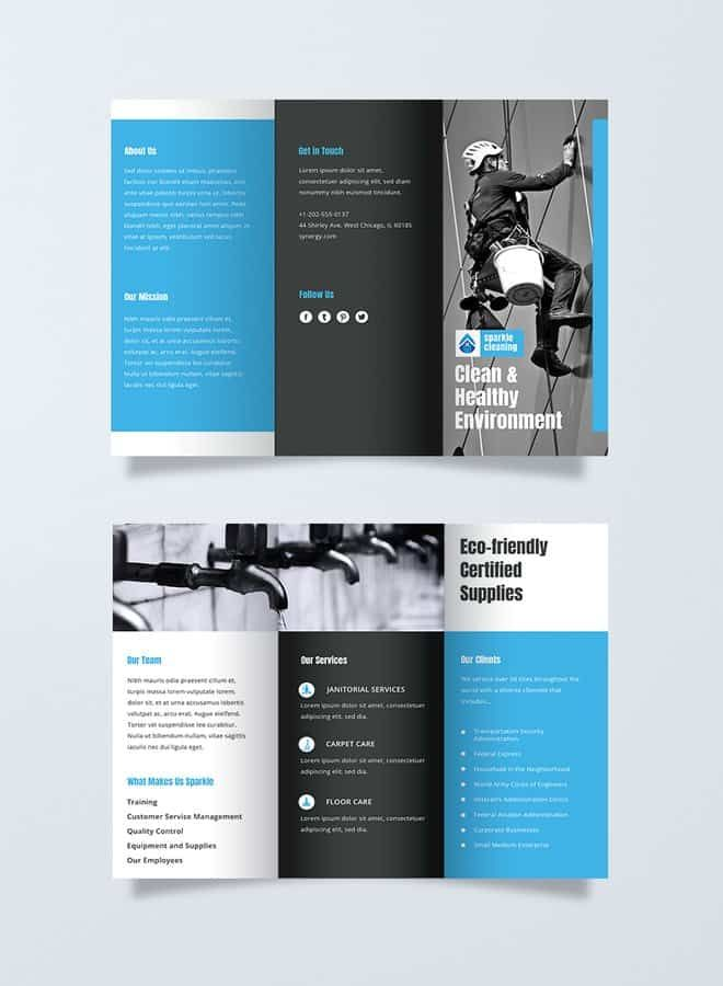 Cleaning-Brochure Free Ready-Made Brochure Templates Brochure