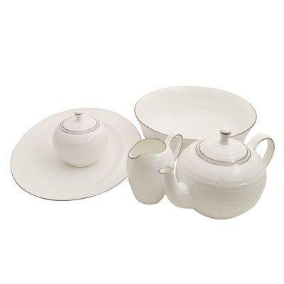Shinepukur Ceramics USA, Inc. Elegance Bone China Traditional Serving 5 Piece Dinnerware Set