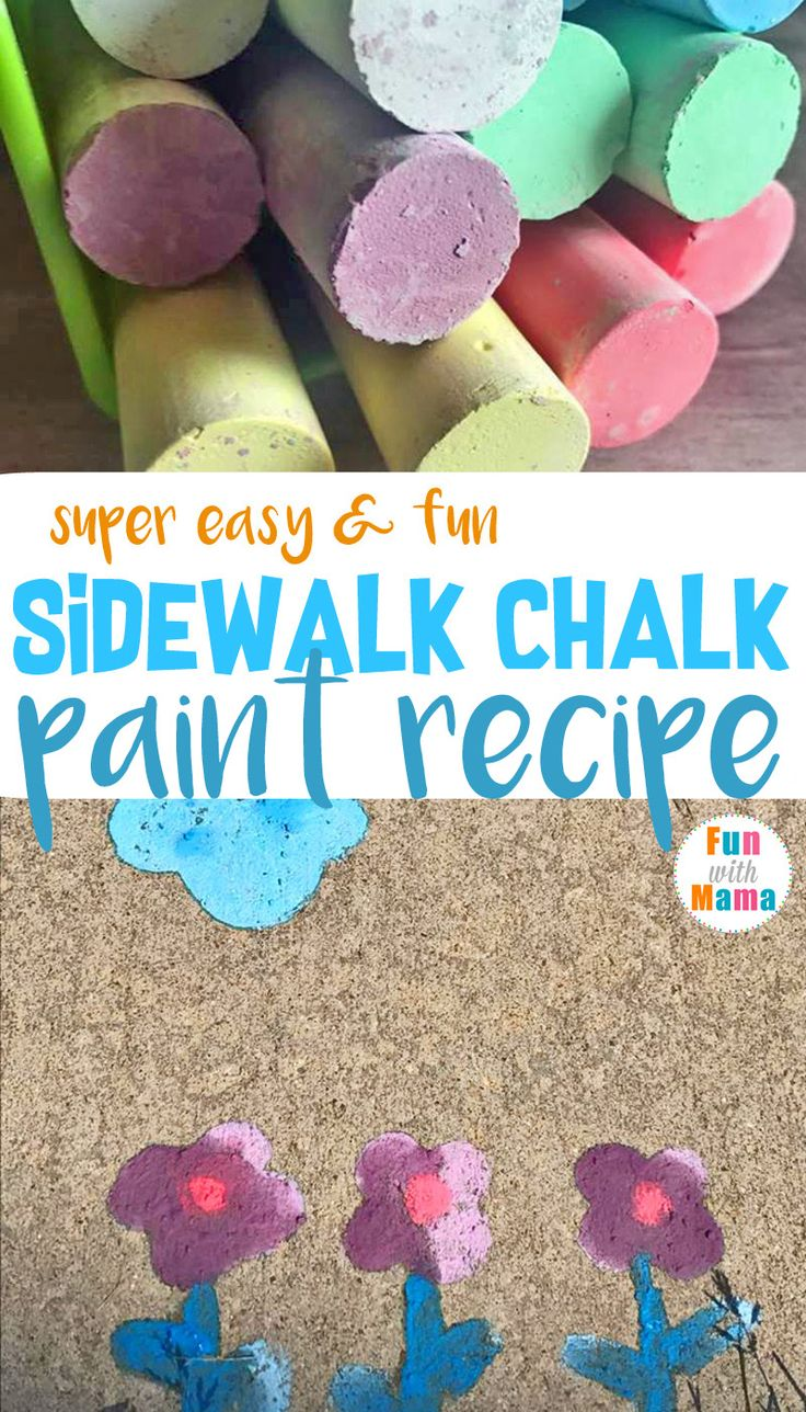 Water and ice activities summer camp at home with 12 weeks of easy - Easy Diy Sidewalk Chalk Paint Recipe Outdoor Acti