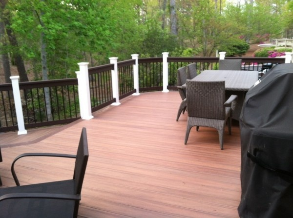 Great Looking Customer Amberwood Pvc Deck From Wolf S