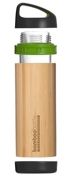 A stylish, eco-friendly and super cool water bottle to replace your dull plastic one. The bottle is constructed from glass interior bottle that is shielded with a bamboo layer. Press down the leak-proof BPA free plastic flip top to reveal a spout for easy sipping. The bottle can be used for hot drinks, as well.