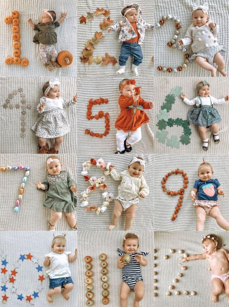 Monatliche Ideen für Babyfotos   – Baby Photo Ideas