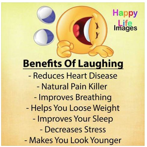 Laughter really is the best medicine