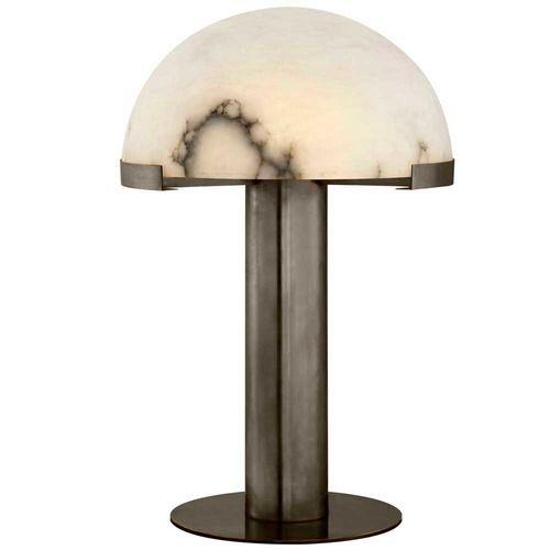 MELANGE TABLE LAMP   BRONZE W/ ALABASTER