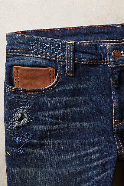 Pilcro Premium Hyphen Distressed Jeans - anthropologie.com