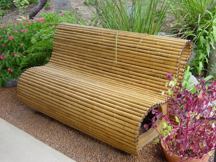Very Artistic Bamboo Bench Funiture Design for Garden Ideas - Furniture | Qdlake.com